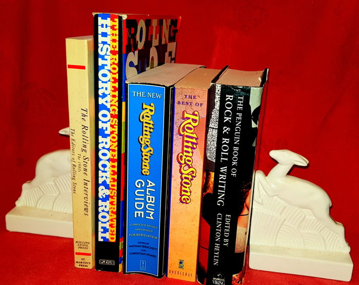 Lot with 5 books about Rock music - 1989/2004
