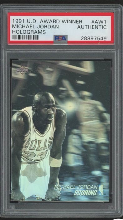 Variant Panini - Upper Deck - Graded card The Best Michael Jordan 1991/92 Award Winner Holograms #AW1 Scoring Leader.