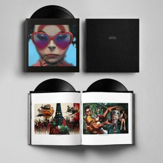 """Gorillaz  Deluxe  180 Grams  2 LP Set  """"Humanz""""  Including 54 Pages Art Book -  Still Sealed !!"""