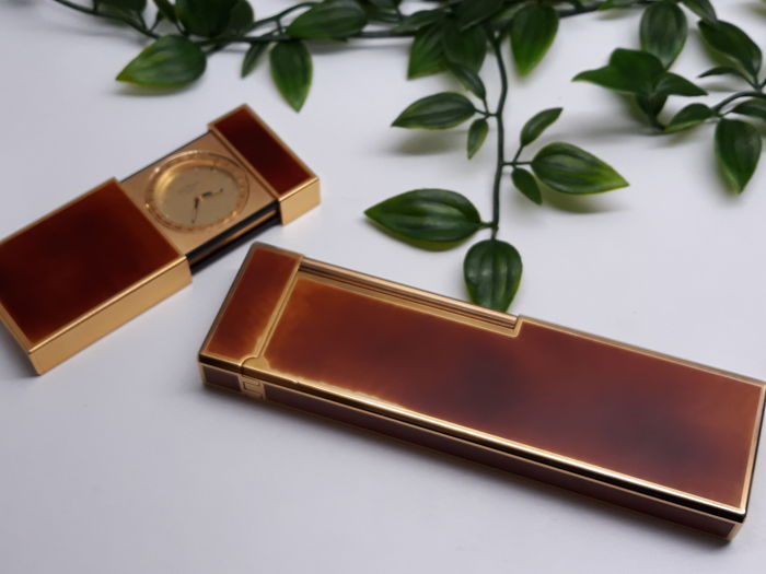 S.T. Dupont XXL Chinese lacquer & Gold + Dupont watch Chinese lacquer & Gold