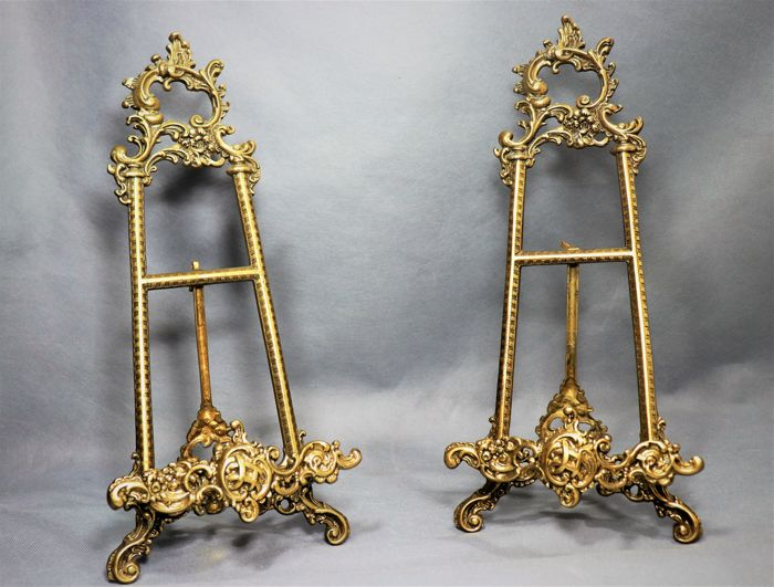 Large easels in rococo bronze style - 20th century (41cmx11cm)