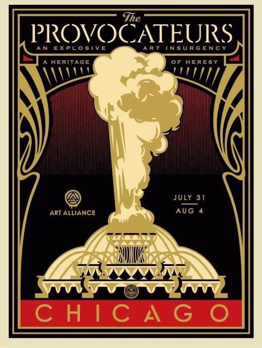 Shepard Fairey (OBEY) - The Provocateurs Chicago (Gold)