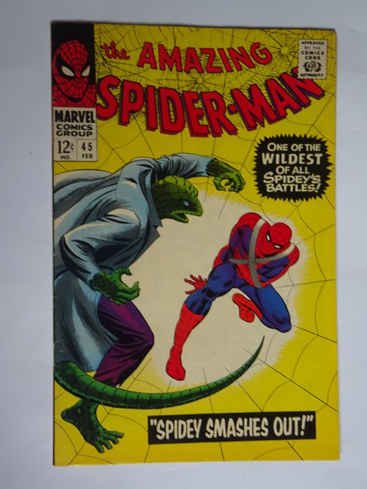 """Amazing Spider-man #45 - """"Spidey Smashes Out!"""" - Softcover - First edition - (1967)"""