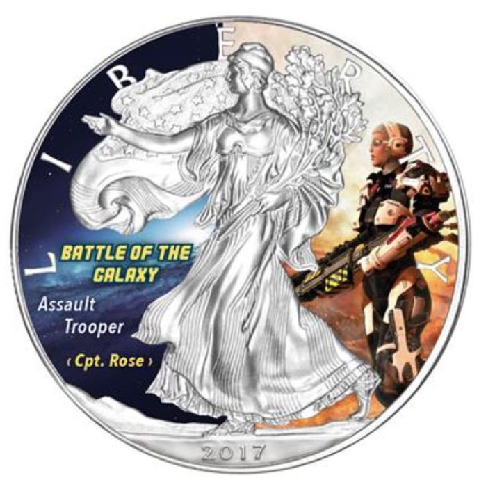 USA - 1 Dollar 2017 - Battle of the Galaxy (5th) Color - 1 oz - Silver
