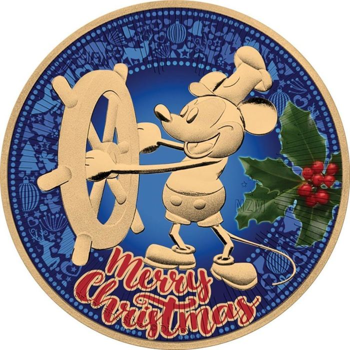 "Niue - 2 Dollar 2017 Mickey Mouse ""Merry Christmas"" - 1 oz - Argent"