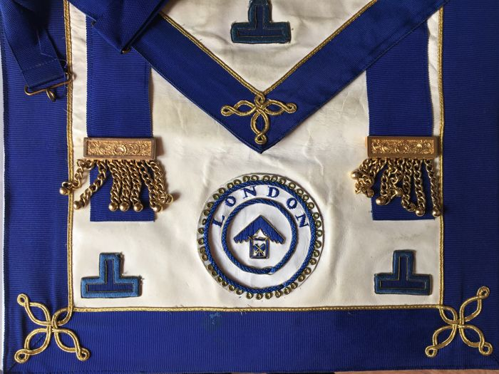 Vintage MASONIC Regalia Mixed Inc Aprons, Collars & Jewels
