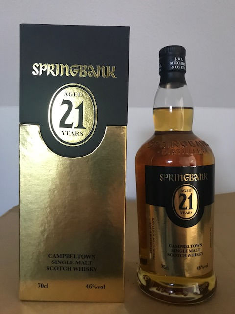 2 bottles Springbank 21 years old OB and Springbank 18 years old Douglas Laing
