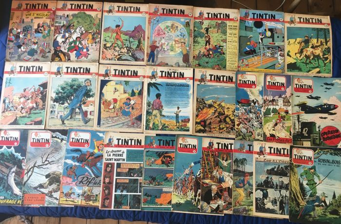 Tintin (magazine) - Journal Tintin - 26 fascicules - Softcover - Eerste druk - (1947/1954)