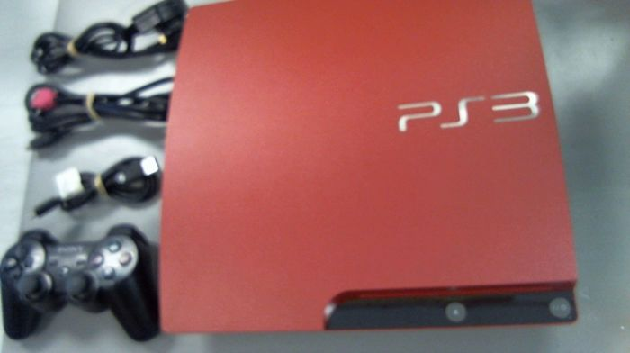 Sony PlayStation 3 Slim 320GB Scarlet Red Console with box