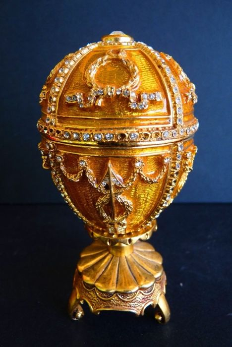 Fabergé Impérial ( Signé ) - - Oeuf Collector - Strass Swarovski (+200) - Email - Finition Or 24 k