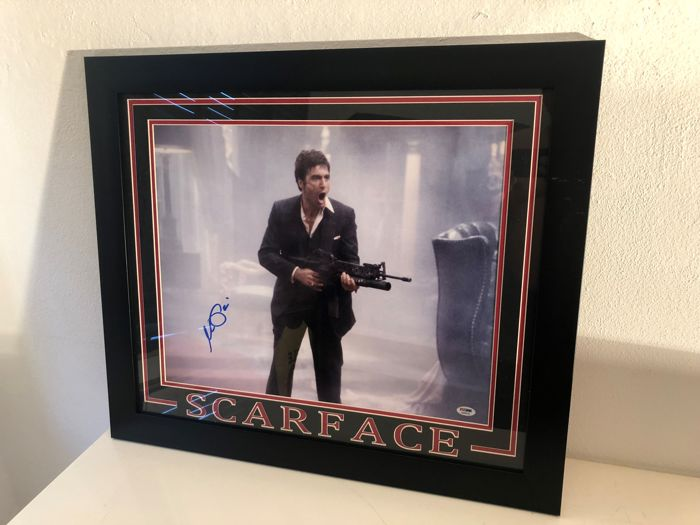 Scarface Say Hello To My Little Friend Photo Psa Coa Catawiki
