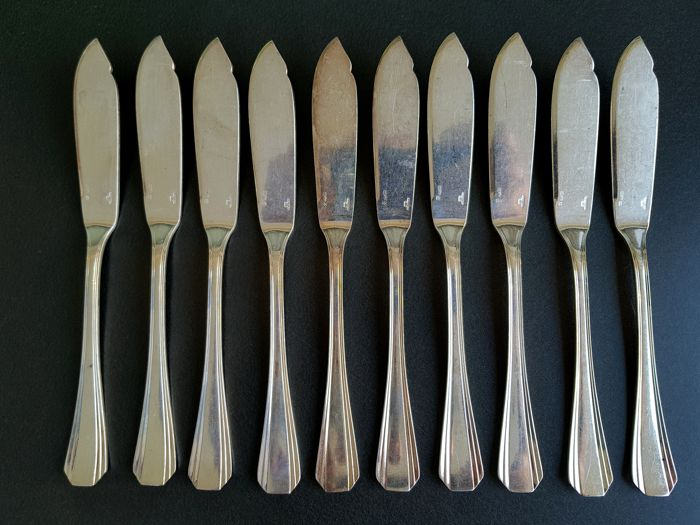 Christofle fish knife for 10 persons