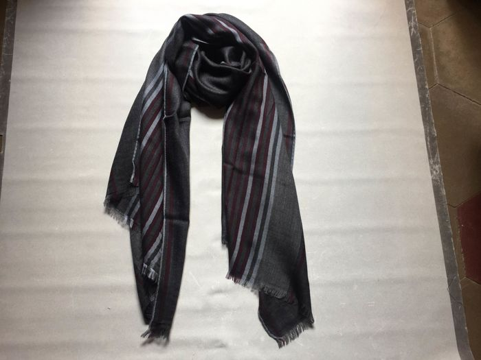 Salvatore Ferragamo - cashmere and silk scarf for men