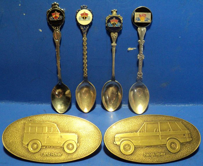 Dekoration - Rover 2 Car Badge en 4 Zeldzame Thee Lepels - 1970 (6 Objekte)