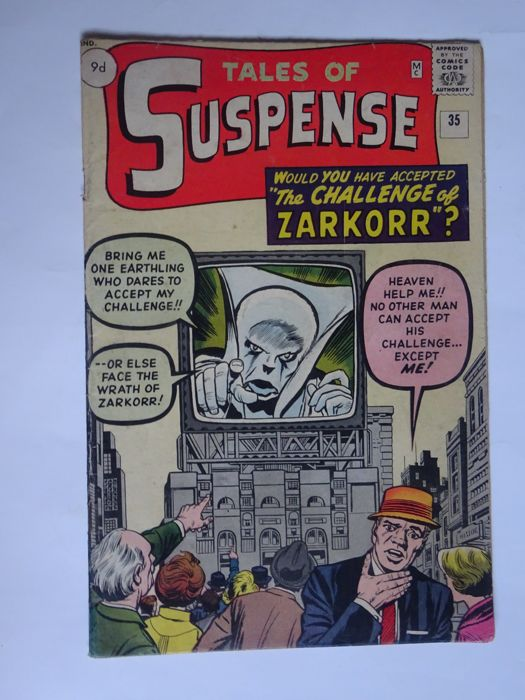 "Tales Of Suspense #35 - ""I Accepted the Deadly Challenge of Zarkorr!"" - Softcover - First edition - (1962/1962)"