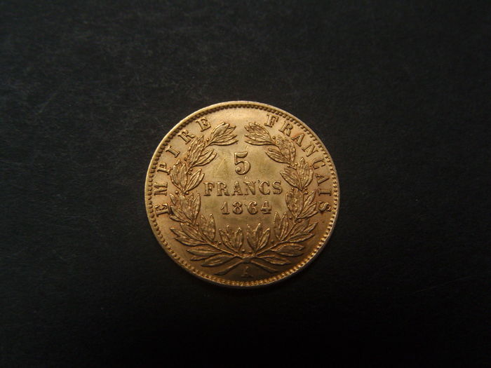 France 5 Francs 1864 A Napoleon Iii Gold Catawiki