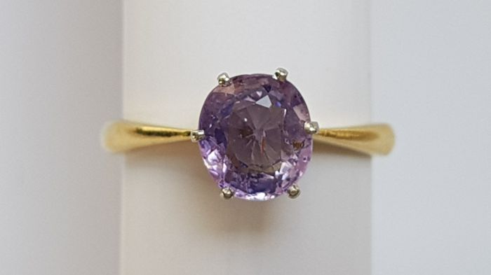 14 kt. Gold - Ring Sapphire