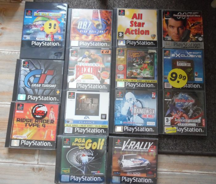 lot of 14 PS1 Games with manual Like : Ridge Racer Type 4 +