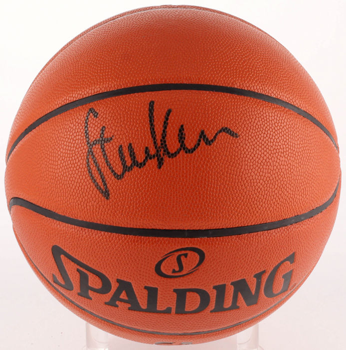 Golden State warriors coach Steve Kerr Signed Official NBA Game Ball Series Basketball
