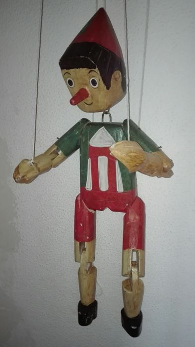 Great Old Pinocchio Puppet.