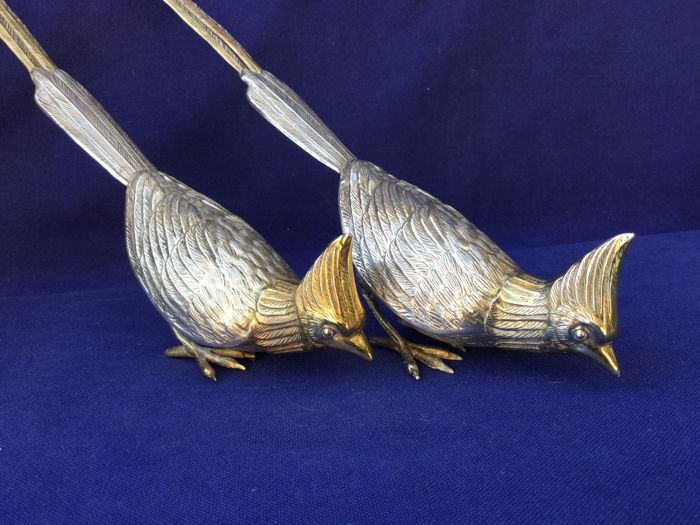 Birds-of-paradise. Long. Made of 915/1000 silver. Spain, from the middle of the last century