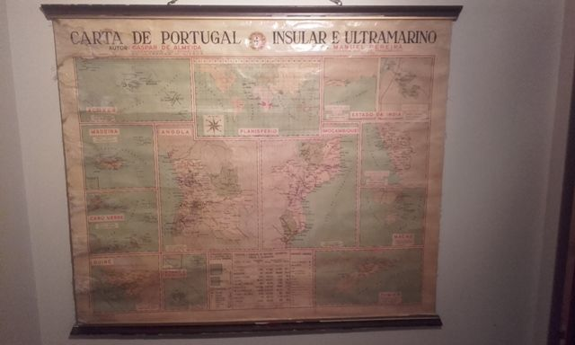 Old school map (Portugal Insular and Overseas Map) 1950 - Catawiki