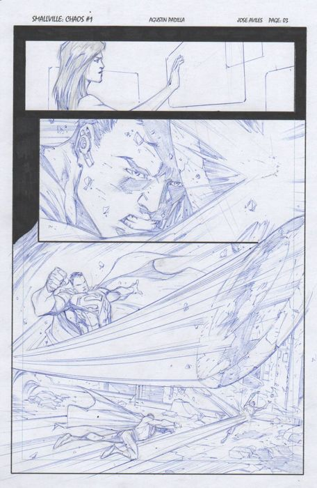 Superman - Smallville Chaos #1 - Original Art Page by Agustín Padilla - First edition - (2014)
