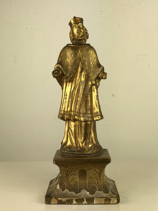 Gilded wood carving of a saint france 18th century catawiki
