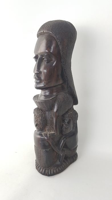 Ebony sculpture tree of life, 20th century