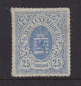 Luxemburg 1865/1875 - Coat of arms third issue, pierced perforation - Michel 20