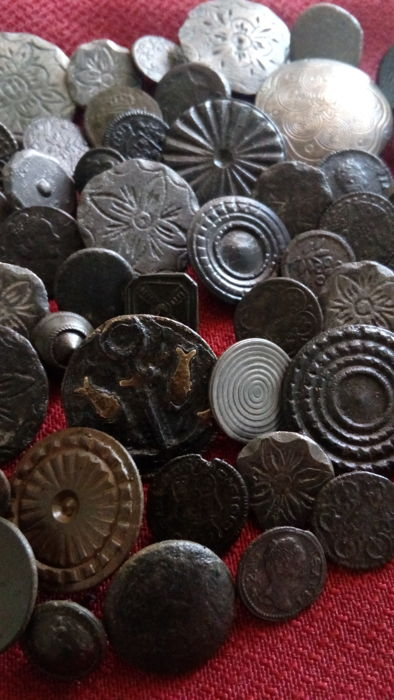Lot of 50 gorgeous buttons of different dates