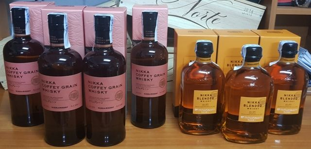 7 bottles - 4x Nikka Coffey Grain 70cl 45ºvol, & 3x Nikka Blended 50cl 40%