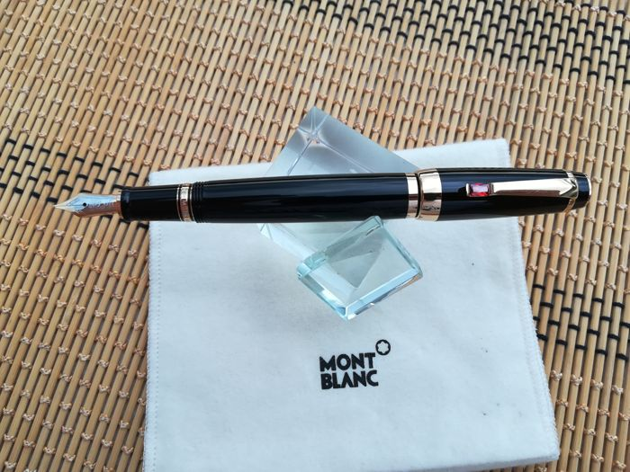 Montblanc Boheme Fountain Pen Black Resin and Red Stone - Ruby type
