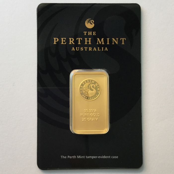 20 Gramm - Gold .999 (24 Karat) - Perth Mint - Seal + Zertifikat