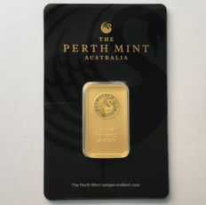 20 gramas - Ouro .999 (24 quilates) - Perth Mint - Seal+Certificado