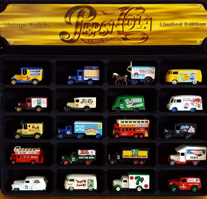 Collection of original Pepsi Cola cars - model scale 1:64 - Special Edition