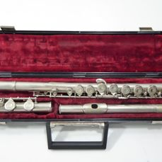 Valentino Silver Plated 3 Piece Flute with Lined Hard Case 20th century