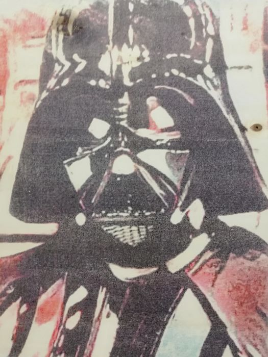 DARTH VADER - Original artwork on a wooden plate - Size: 29,8 x 42 cm. - First edition - (2018)