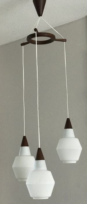 unknown designer ceiling light with 3 glass lamp shades catawiki