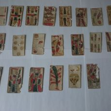 22 Playing cards from Toledo dated 1674