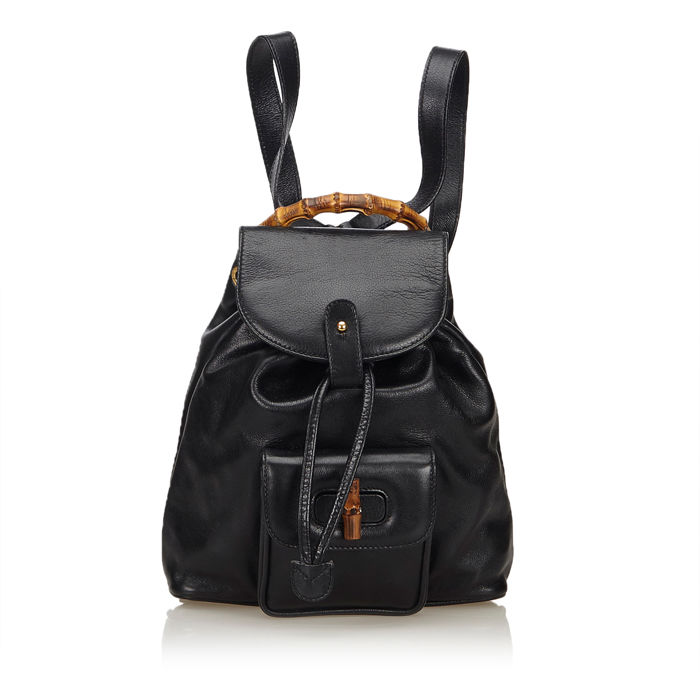 f0c2162ca80 Gucci - Bamboo Leather Backpack - Catawiki