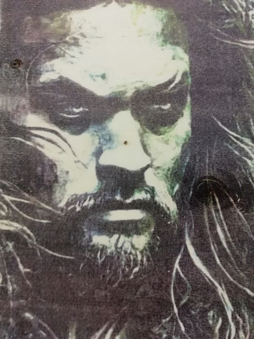 Aquaman - Original artwork on a wooden plate - Size: 29,8 x 42 cm. - First edition - (2018)
