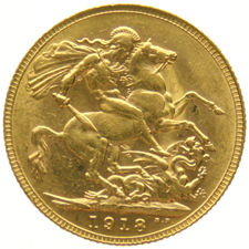 Australia - Sovereign 1918 Perth - George V - Oro