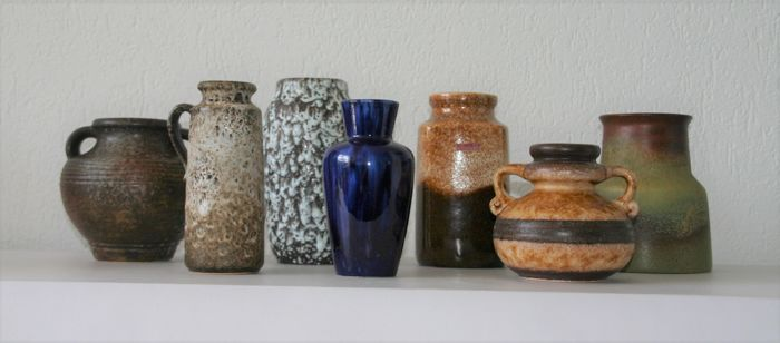 Seven vases - W-Germany - Retro vases