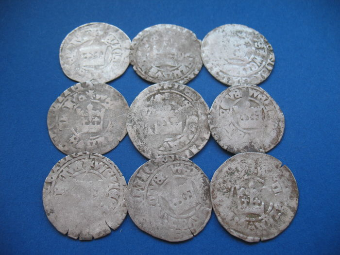 Tsjechië - 1  Grossus ND 9 pieces - Zilver
