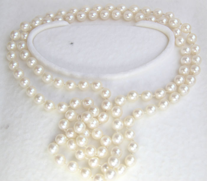 Akoya pearl necklace 7 mm