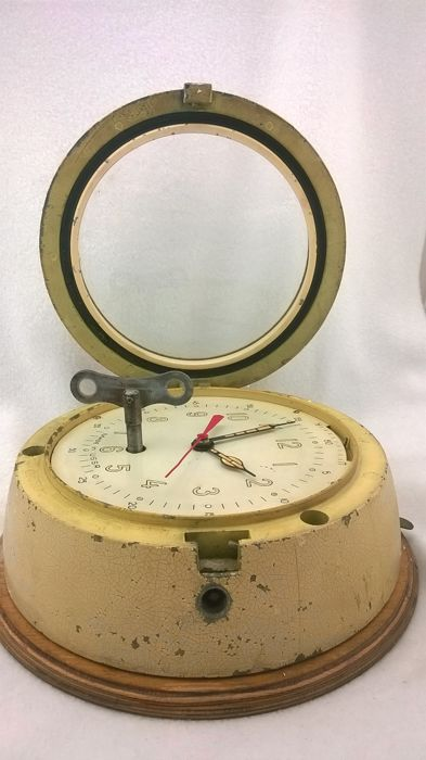 "Rare model ""5-ChM"" Original Russian Navy Ship Clock - Made in USSR -  1962 year"