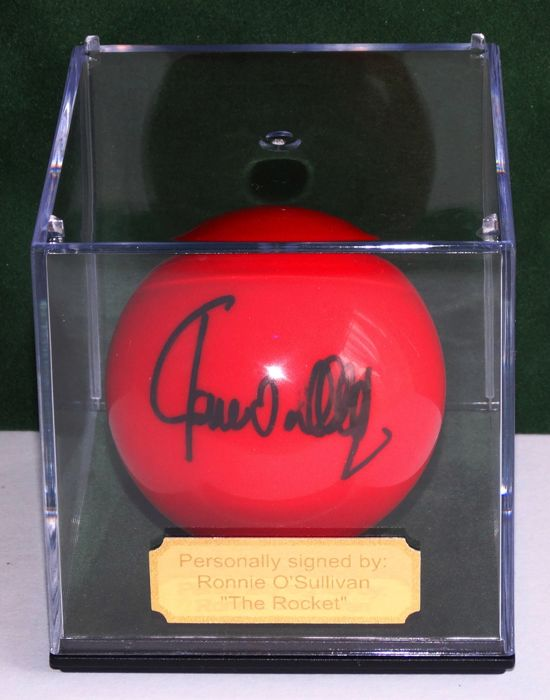 Ronnie OSullivan Signed Red Snooker Ball