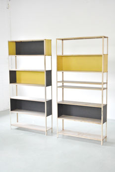 Friso Kramer for Asmeta / Bijenkorf - sheet steel bookcases