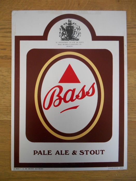Metal advertising sign of Bass from 1971 - coat of arms UK